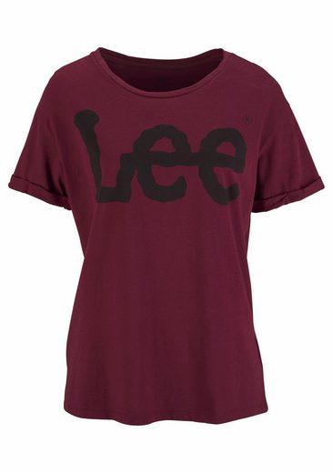 Lee® Rundhalsshirt, mit angesagtem Logo-Print