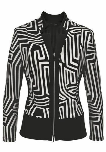 select! By Hermann Lange Sweatblazer, Jerseyblazer mit grafischem Muster