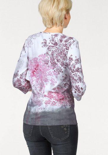 Olsen Rundhalsshirt, mit Druck und Glitzersteinchen