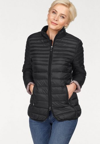 Damen Danwear Winterjacke mit kontrastfarbenem Futter schwarz | 05710289584577