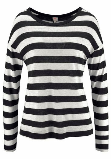 Levi's® Langarmshirt Mara Tee, Garn gefärbter Ringel