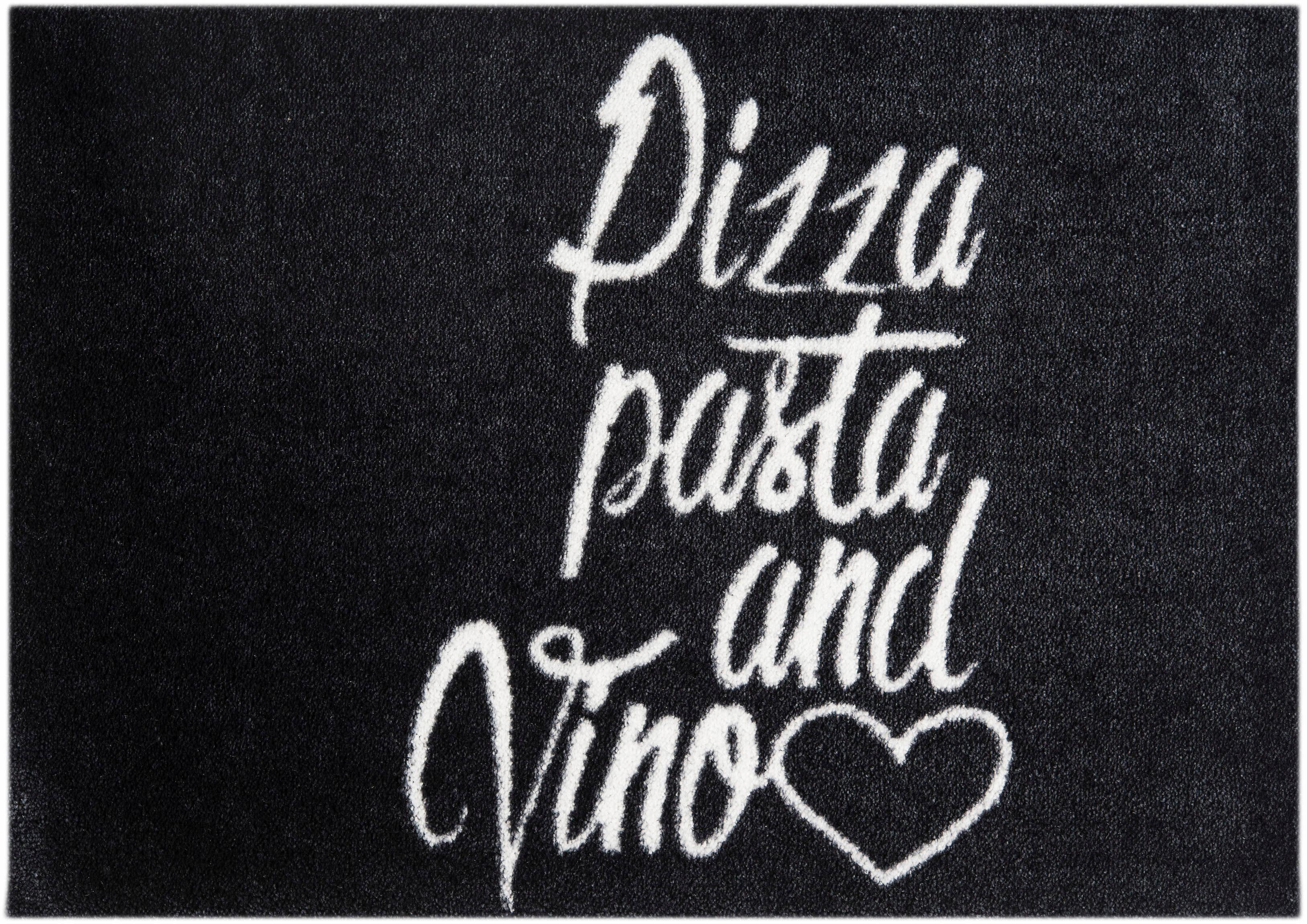 Teppich »Pizza Vino Love«, MINT RUGS, rechteckig, Höhe 7 mm, waschbar