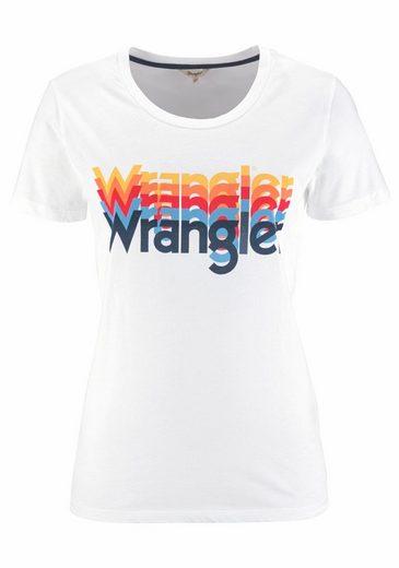 Wrangler T-Shirt, mit trendy Logoprint
