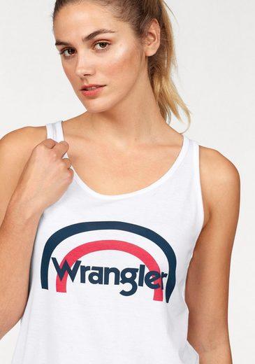 Wrangler Tanktop Rainbow, mit angesagtem Logo-Frontprint