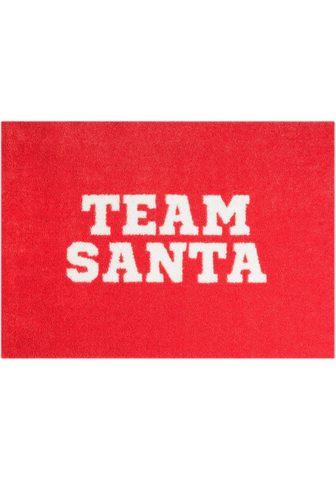 MINT RUGS Durų kilimėlis »Team Santa« rechteckig...