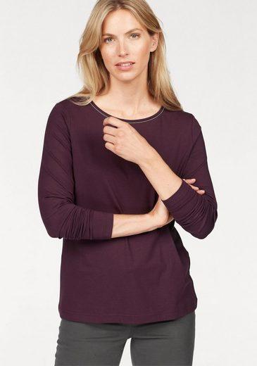 STOOKER WOMEN Rundhalsshirt, mit kleinen Glitzerelementen am Ausschnitt