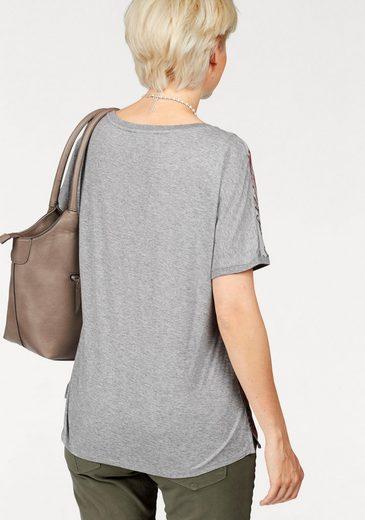 Brax Blusenshirt, Caelen aus Materialmix