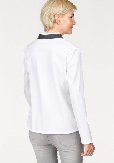 NAVIGAZIONE Klassische Bluse, mit Glitzernieten am Kragen