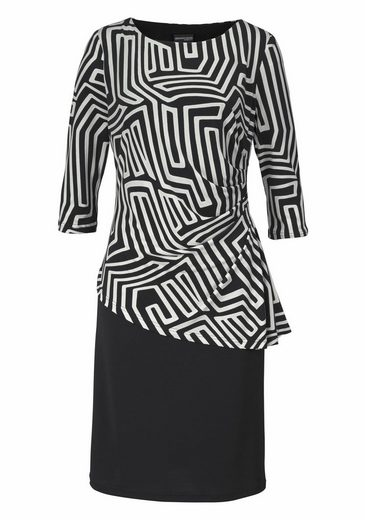 select! By Hermann Lange Abendkleid, in 2-in-1-Optik mit gemustertem Oberteil