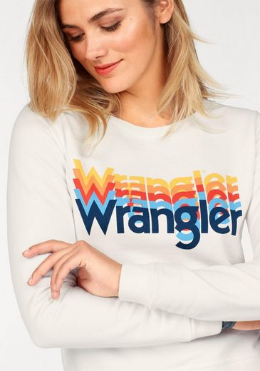 Wrangler Sweatshirt, im trendy 70`s -Look