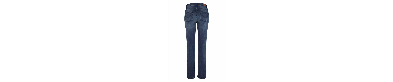 Stretch-Jeans, >>Coletta<< Straight, in leichter Waschung