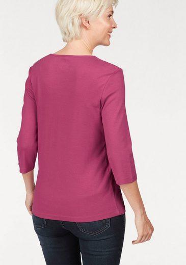 Olsen Rundhalsshirt, aus weicher Rippqualität mit zarten Nieten am Ausschnitt