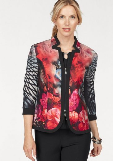 Mit Hermann Select Lange Jerseyblazer By Blumendruck Sweatblazer qXCBxOR