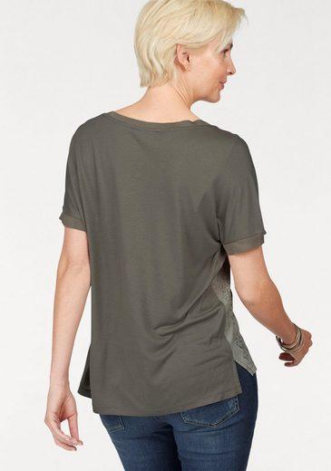 Brax Blusenshirt, Caren mit glänzendem Paisley-Druck