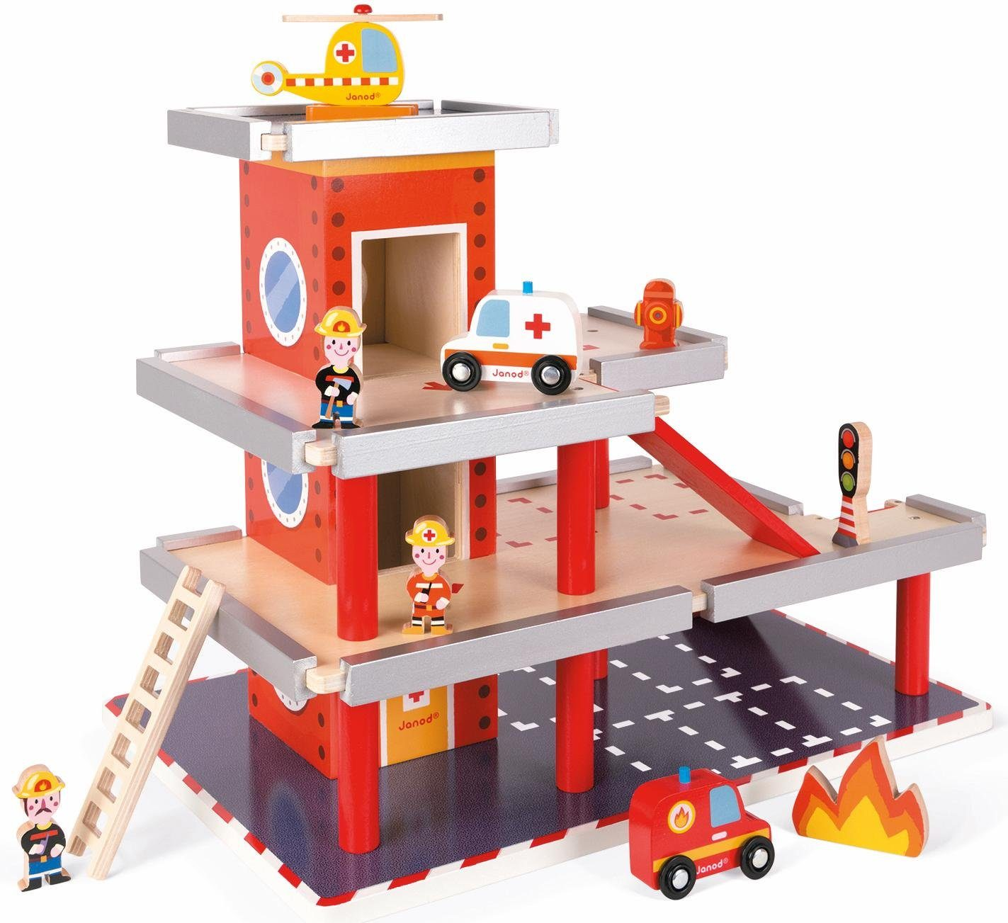 Janod Feuerwehrstation aus Holz