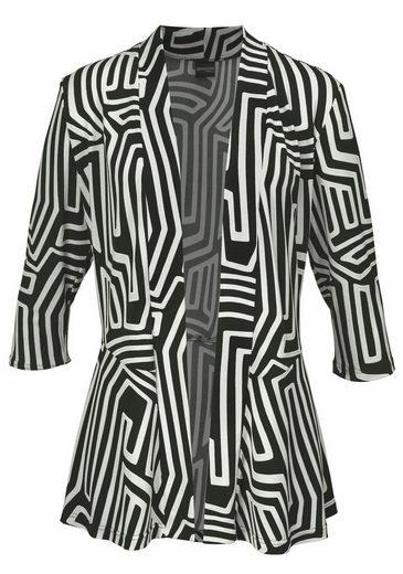 select! By Hermann Lange Sweatblazer, Blazerjacke aus gemustertem Jersey