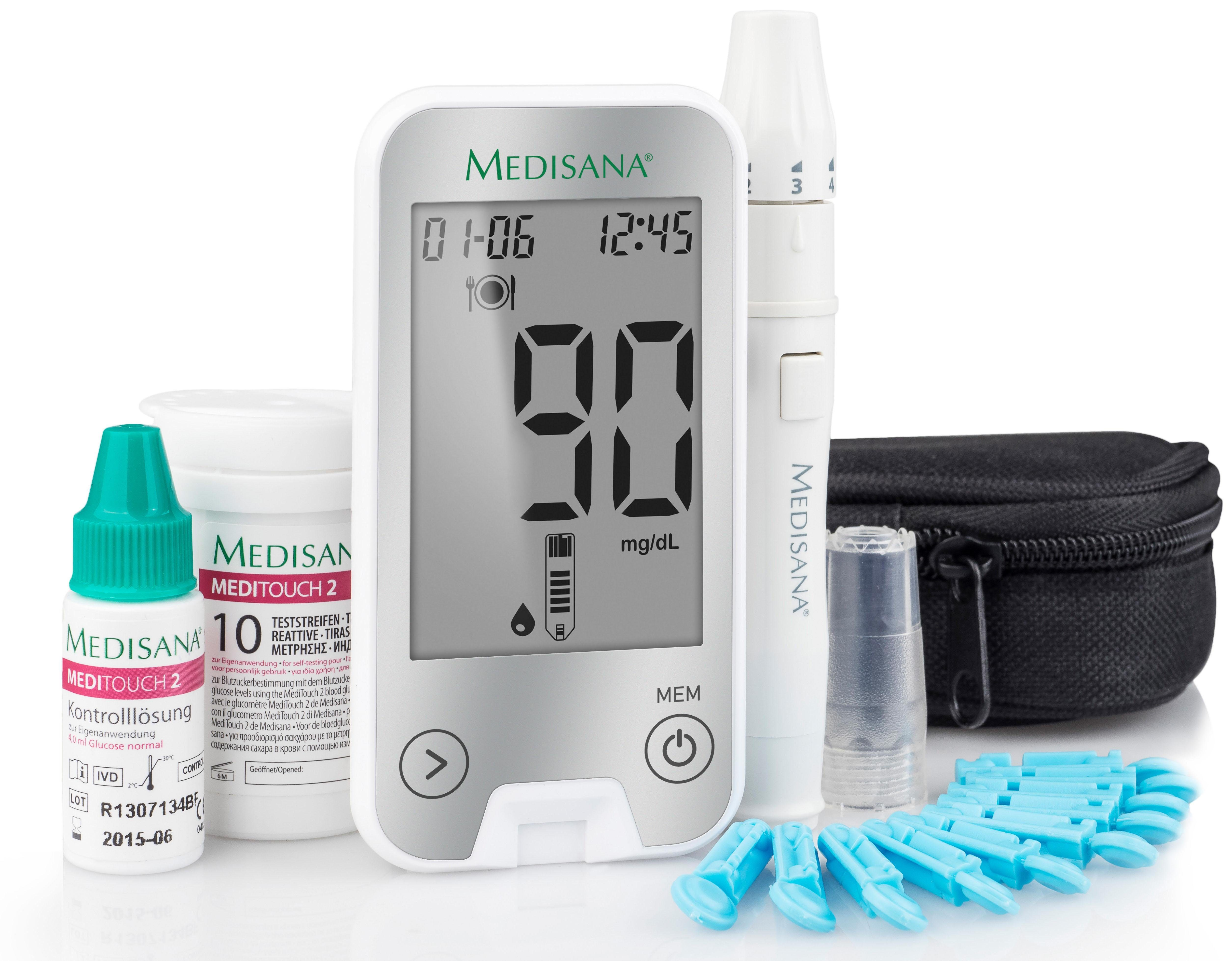 Medisana Blutzuckermessgerät MediTouch 2 Connect M79044 Blutzucker, mit Bluetooth