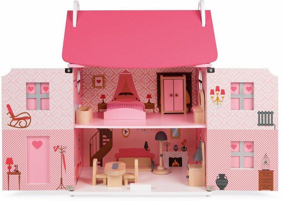 janod puppenhaus aus holz mademoiselle kaufen otto. Black Bedroom Furniture Sets. Home Design Ideas