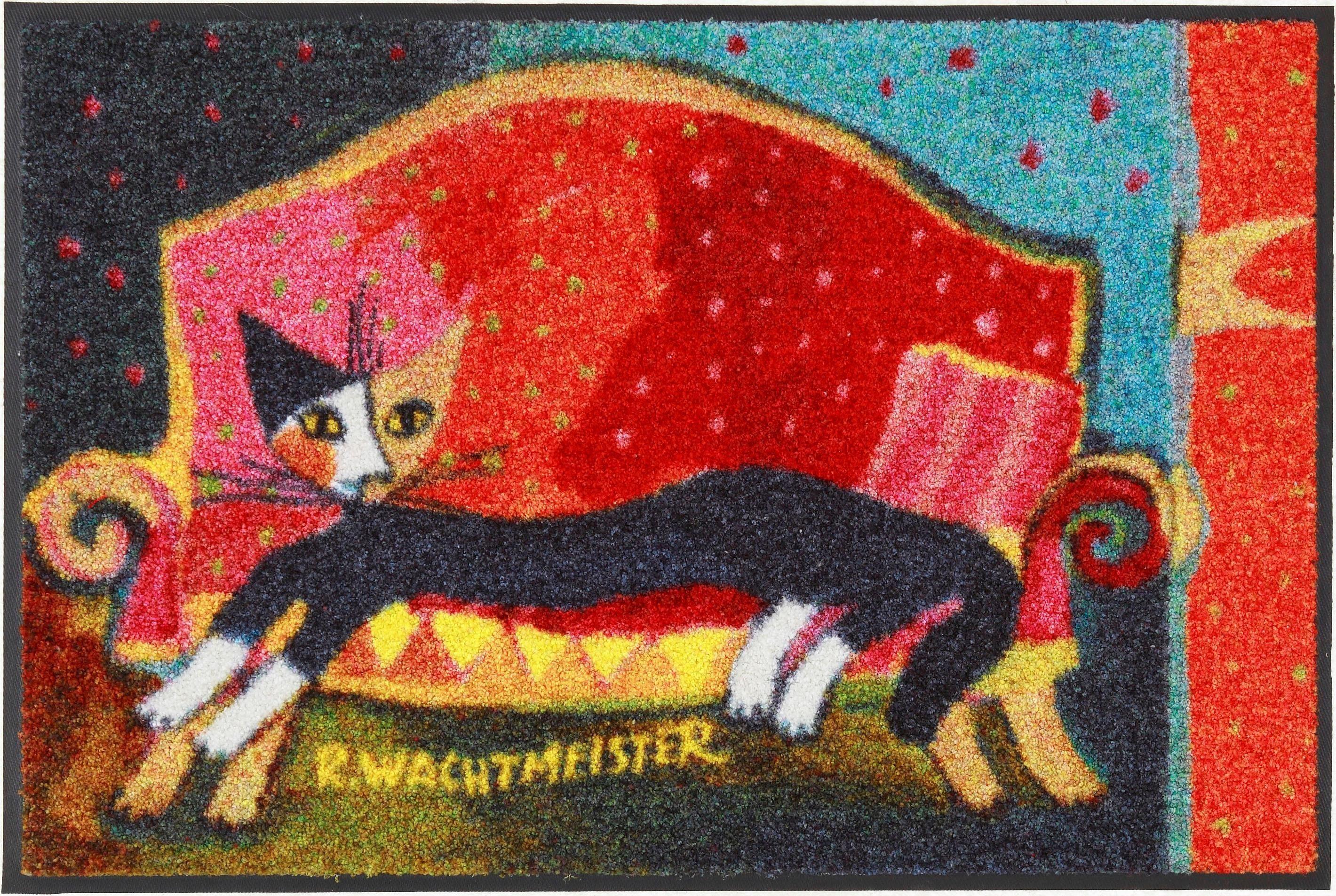 Fußmatte »Resting Place«, Rosina Wachtmeister, rechteckig, Höhe 6 mm
