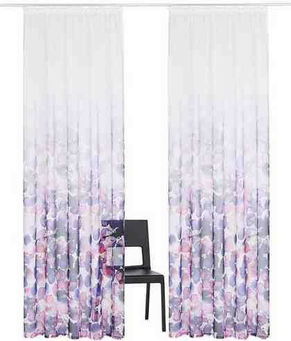 Gardine »Sakura«, Guido Maria Kretschmer Home&Living, Kräuselband (2 Stück)
