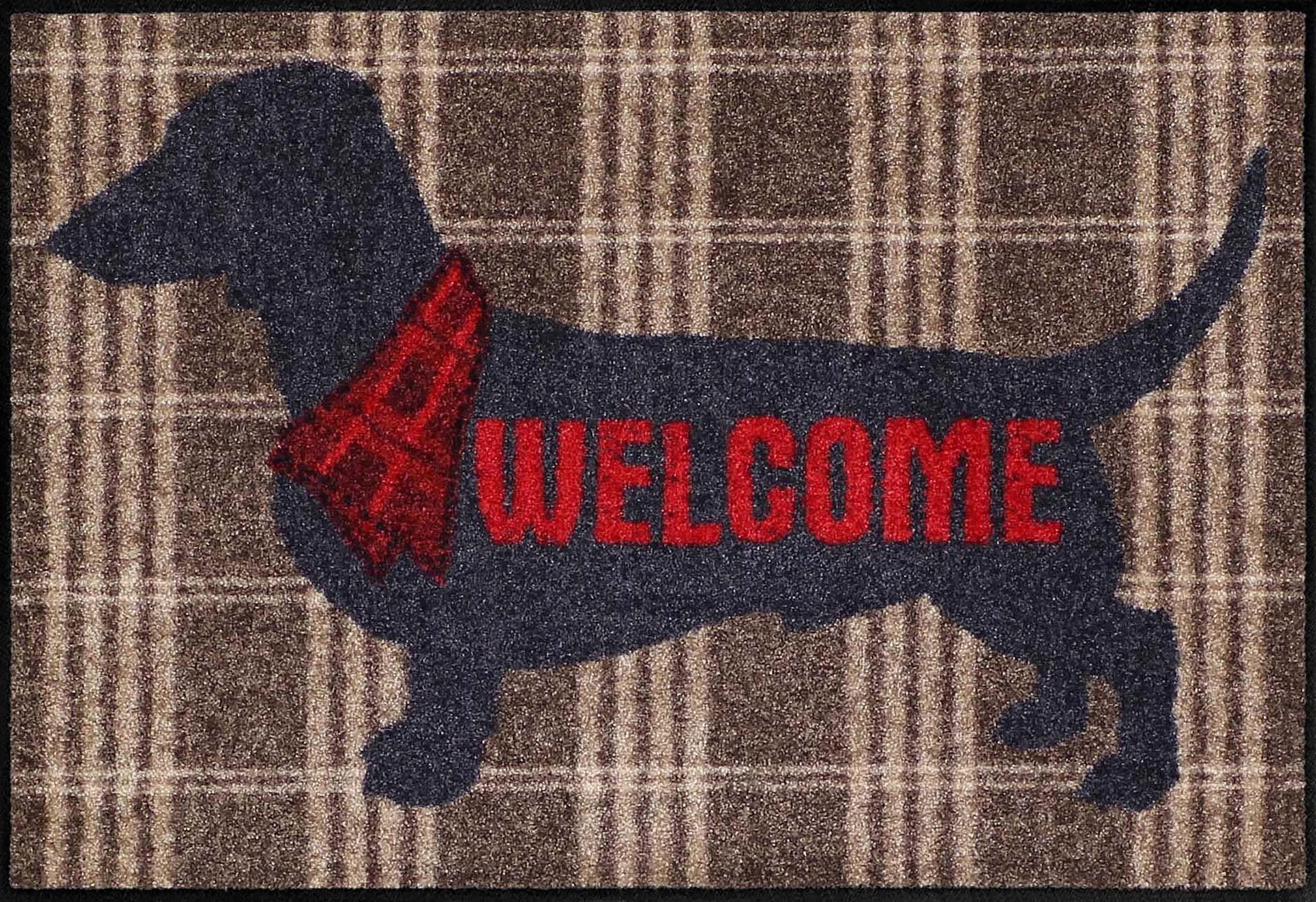 Fußmatte »Welcome Dog«, Salonloewe, rechteckig, Höhe 6 mm