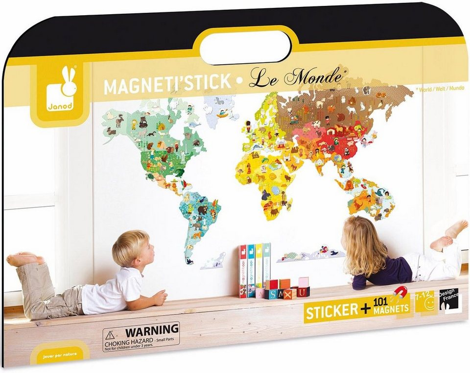 Janod Magnetische Landkarte,  Weltkarte  kaufen