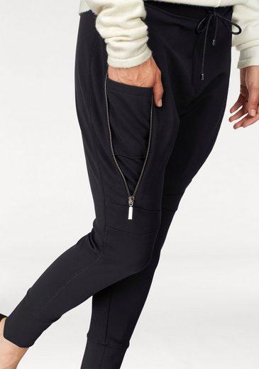 MAC Schlupfhose Future Pants, Dekorative Reißverschlüsse