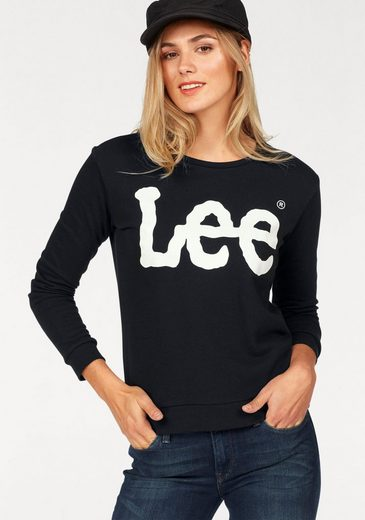 Mit Lee® Frontprint Trendigem Frontprint Sweatshirt Sweatshirt Mit Trendigem Lee® qHq1ZtxF