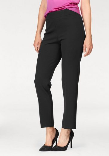 Select! By Hermann Iron Fold Trousers Long From Jersey, Stretchy Waistband