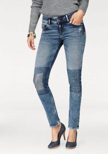 Cross Jeans® Stretch-Jeans Melinda, High Waist mit coolen Destroyed Effekten