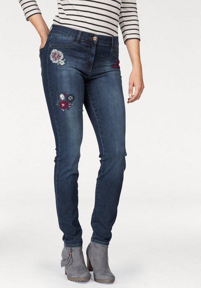 34cffe97834f Brax Skinny-fit-Jeans Shakira mit Stickerei, normale Leibhöhe online ...