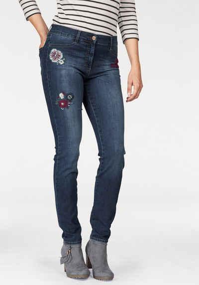 Brax Skinny-fit-Jeans Shakira mit Stickerei, normale Leibhöhe 4e7989444c