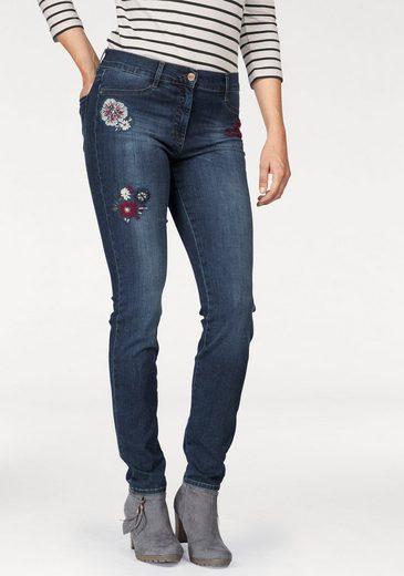 Brax Skinny-fit-Jeans, Shakira mit Stickerei, normale Leibhöhe