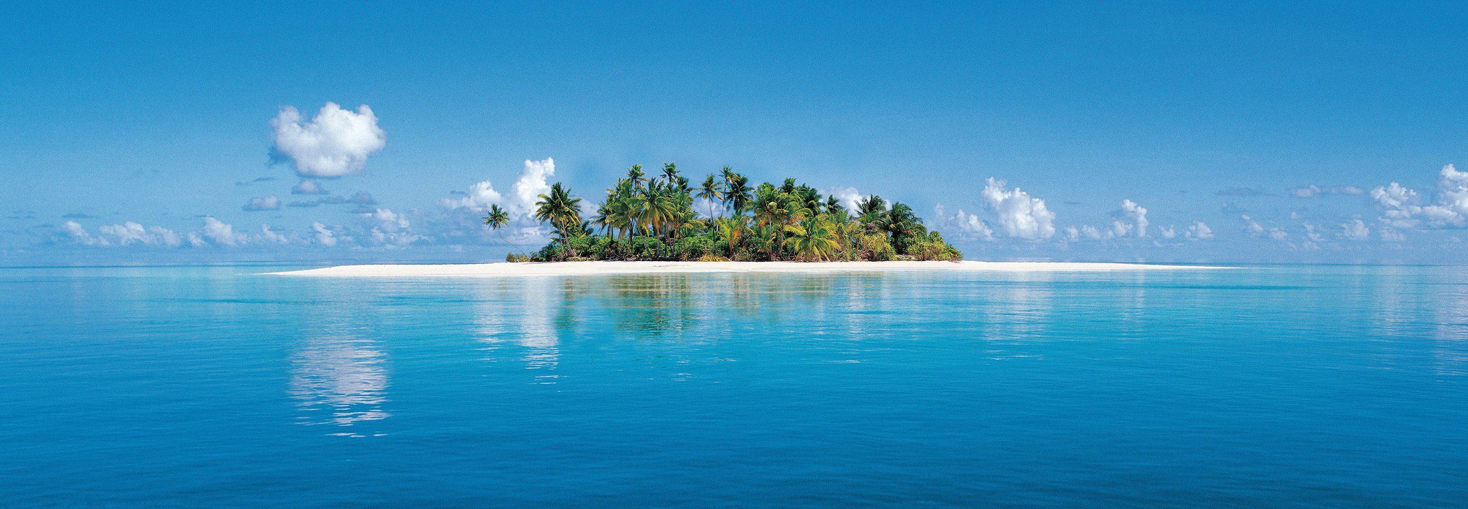 Fototapete »Maldive Island«, 4-teilig, 366x127 cm