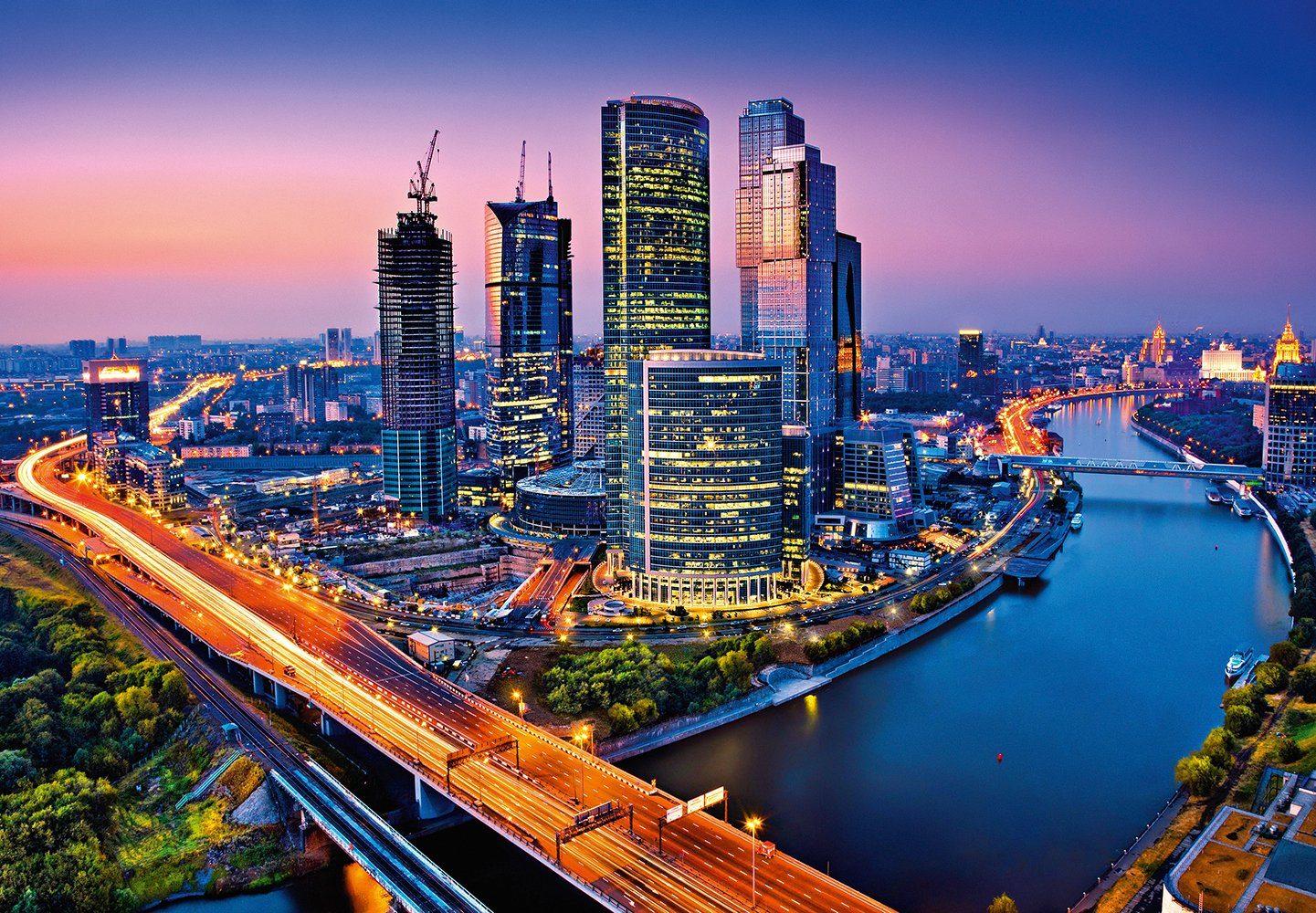 Fototapete »Moscow Twilight«, 8-teilig, 366x254 cm