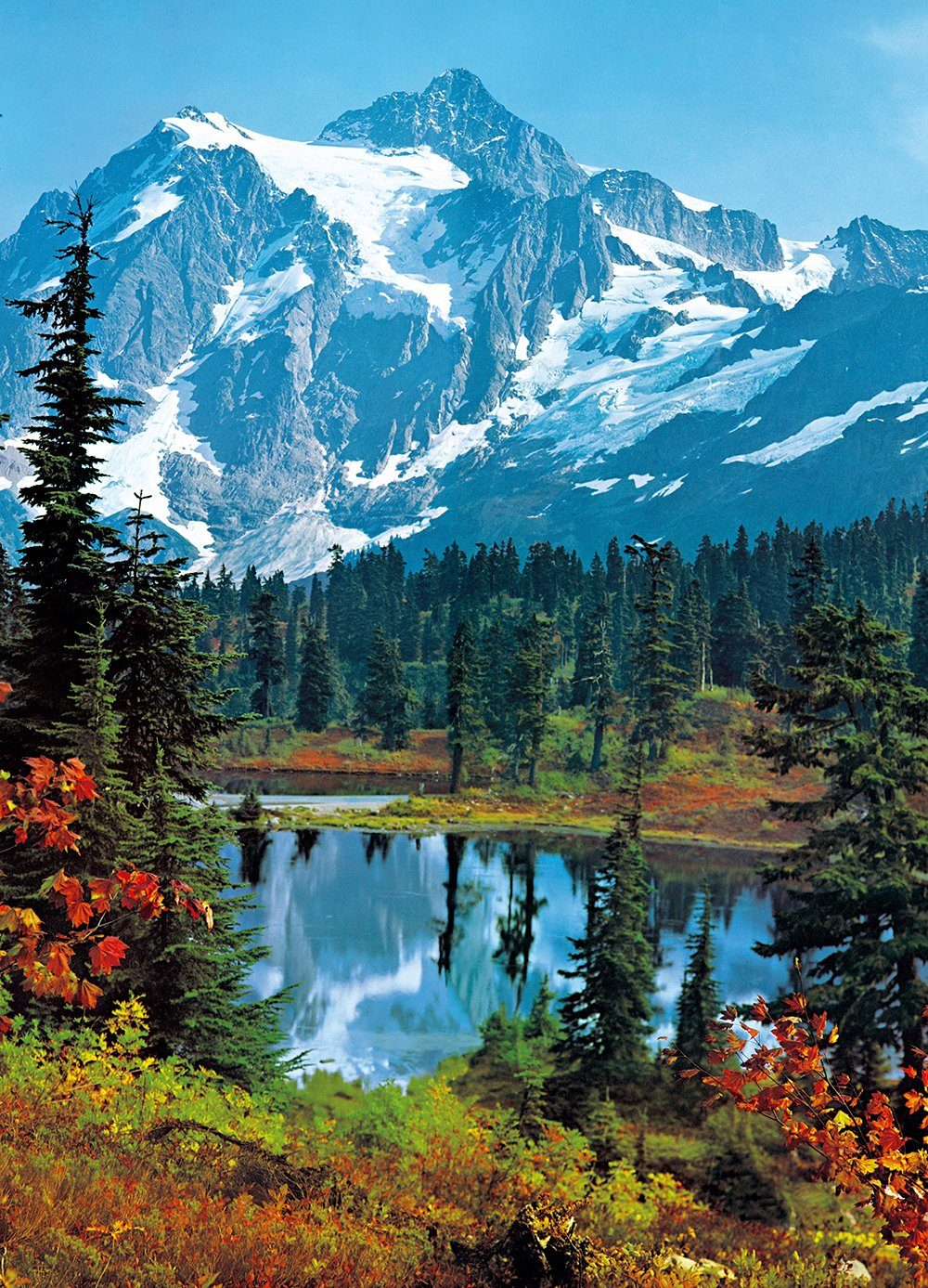 Fototapete »Mountain Peak«, 4-teilig, 183x254 cm