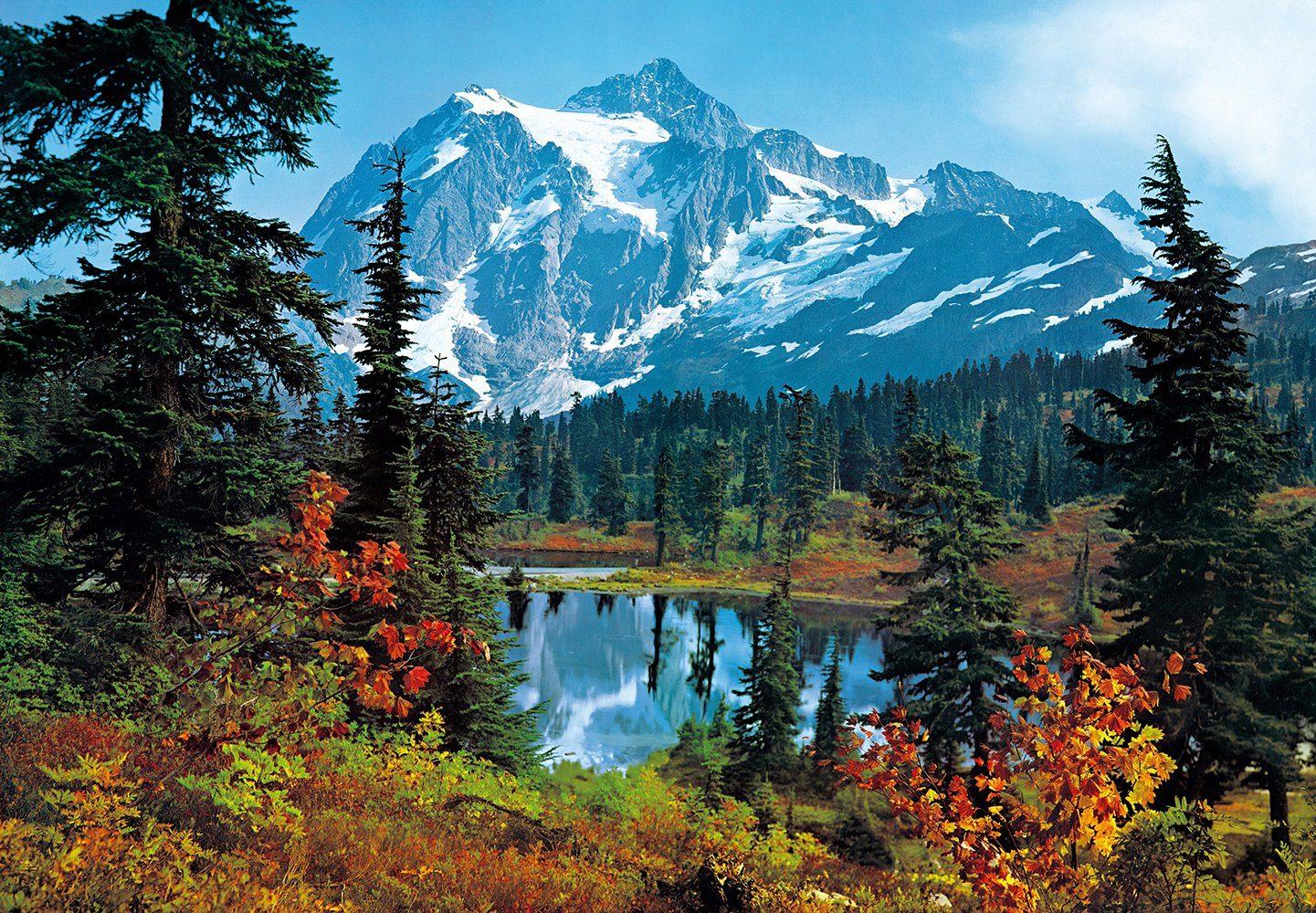 Fototapete »Mountain Morning«, 8-teilig, 366x254 cm