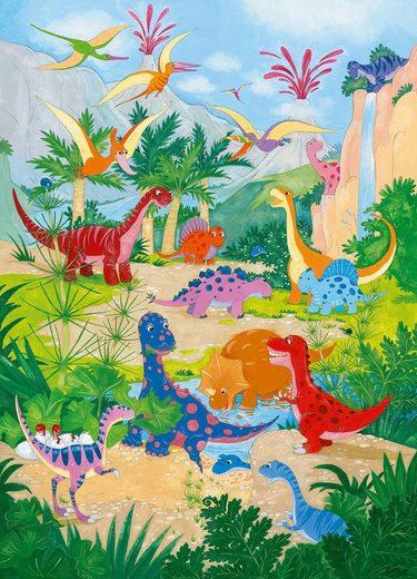 Fototapete »Dino World«, 4-teilig, 183x254 cm