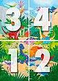 Fototapete »Dino World«, 4-teilig, 183x254 cm, Bild 4
