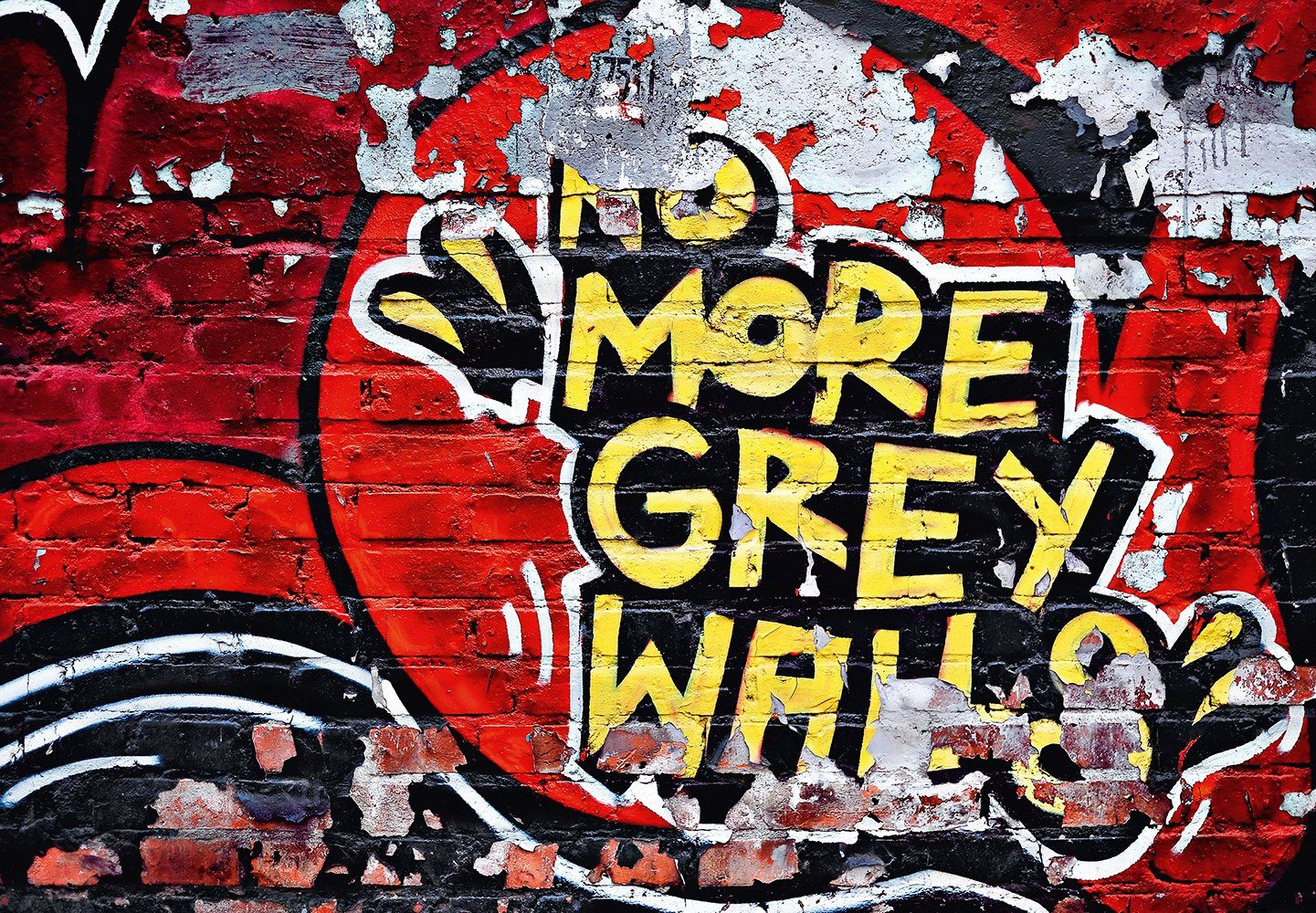Fototapete »No More Grey Walls«, 8-teilig, 366x254 cm