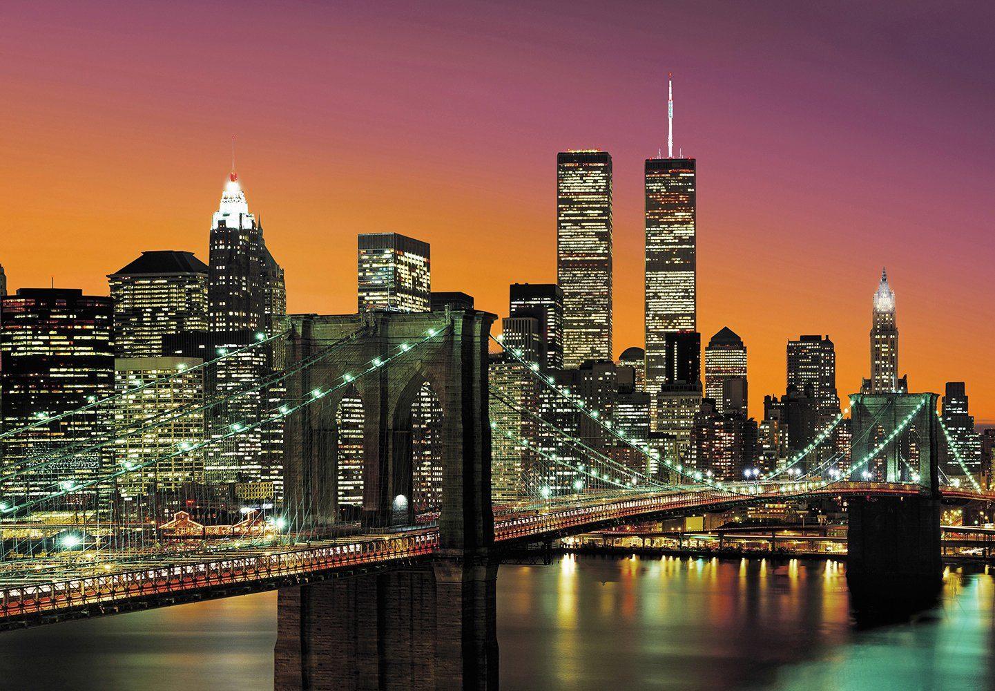 Fototapete »New York City«, 8-teilig, 366x254 cm