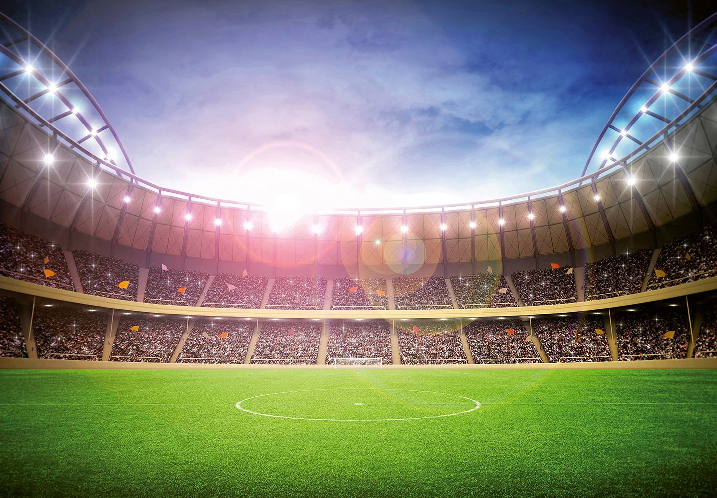 Fototapete »Stadium at Night«, 8-teilig, 366x254 cm
