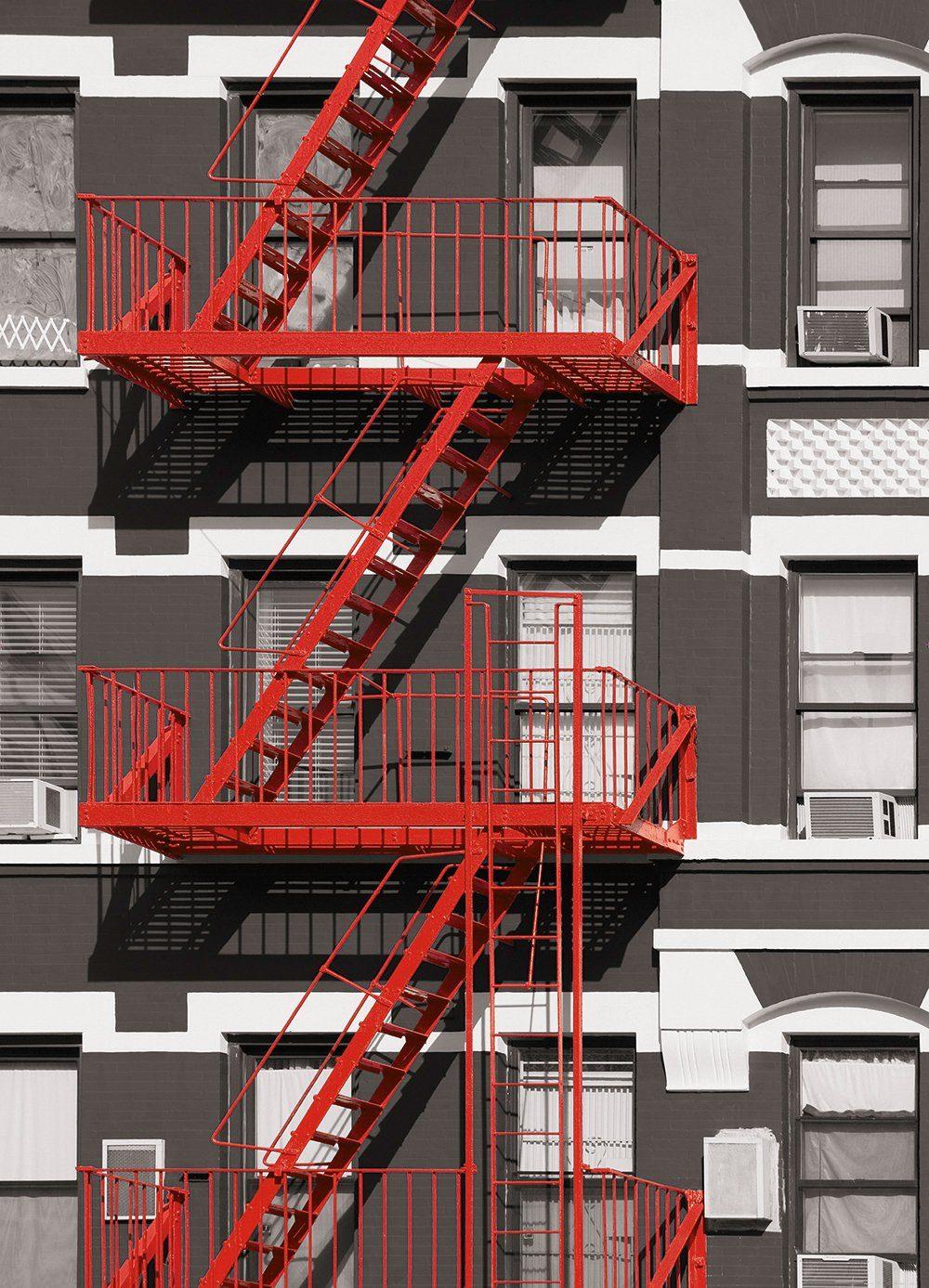 Fototapete »Fire Escape«, 4-teilig, 183x254 cm