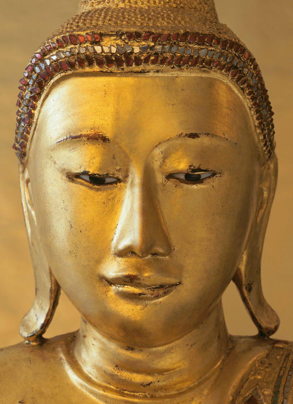Fototapete »Golden Buddha«, 4-teilig, 183x254 cm