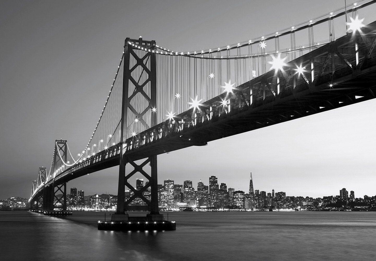 Fototapete »San Francisco Skyline«, 8-teilig, 366x254 cm