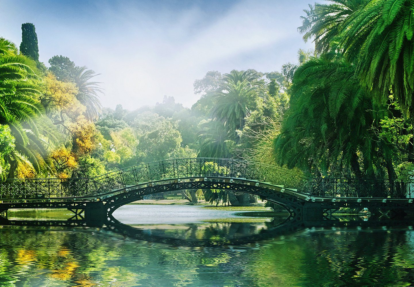 Fototapete »Bridge in the Sunlight«, 8-teilig, 366x254 cm