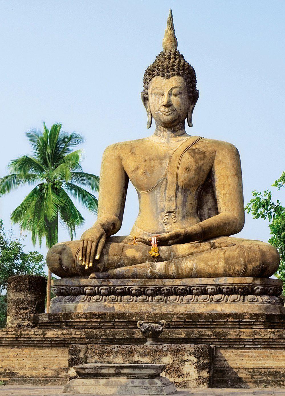 Fototapete »Sukhothai, Wat Sra Si Te«, 4-teilig, 183x254 cm