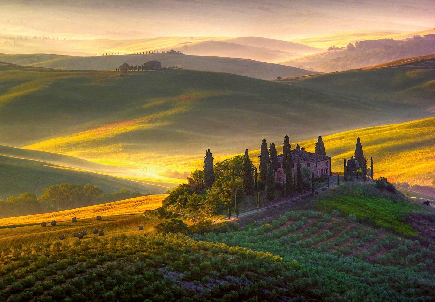 Vliestapete »Toscana«, 366x254cm, 8-teilig