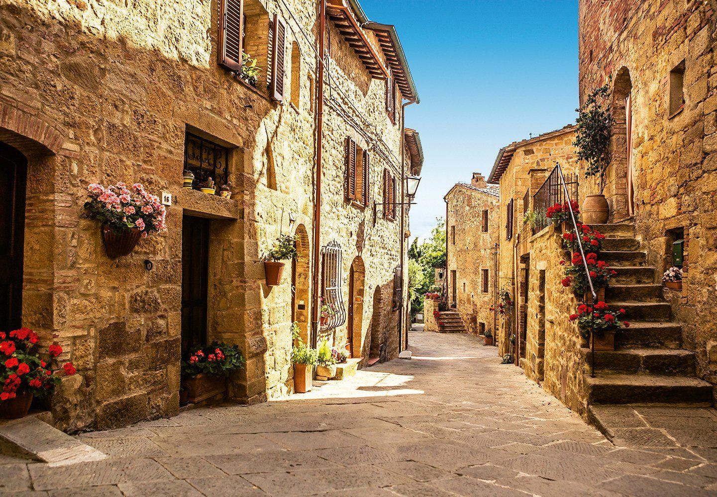 Fototapete »Tuscany Village«, 8-teilig, 366x254 cm