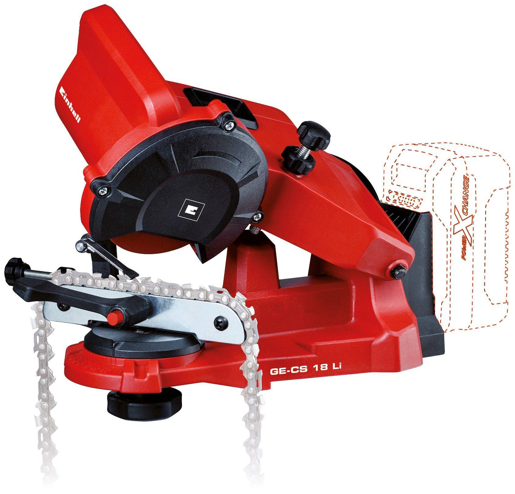 EINHELL Sägekettenschärfgerät »GE-CS 18 Li-Solo«, für alle gängigen Sägeketten